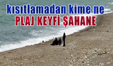 Kısıtlama günlerinde Akçakoca'da plaj keyfi