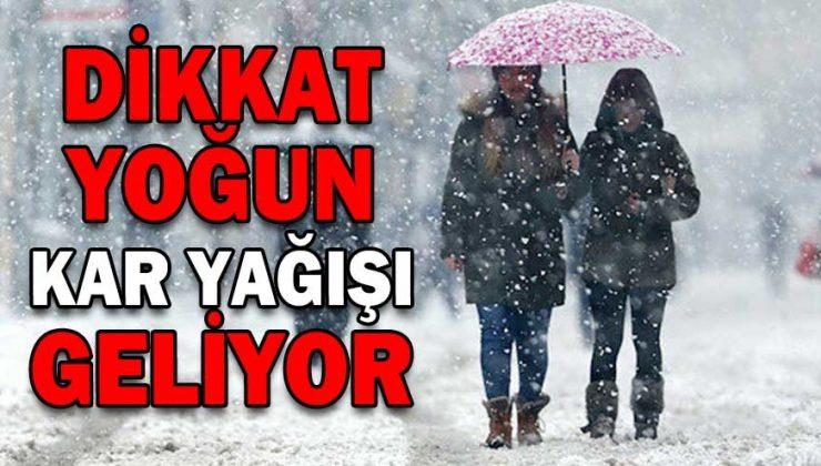 Kritik uyarı… Yoğun kar yağışı geliyor